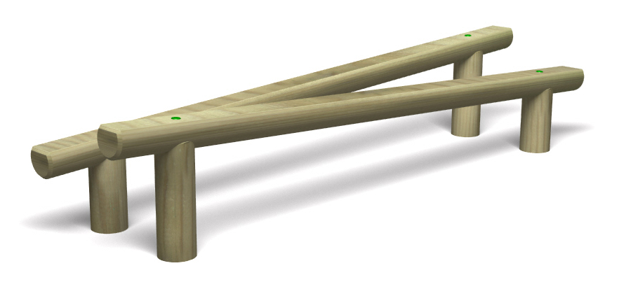 Playground balance beams