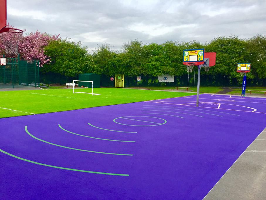 Playground Paint Markings Sports Education Social Development